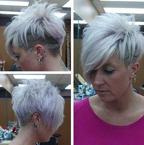 Shaved Pixie Hair Style for Women