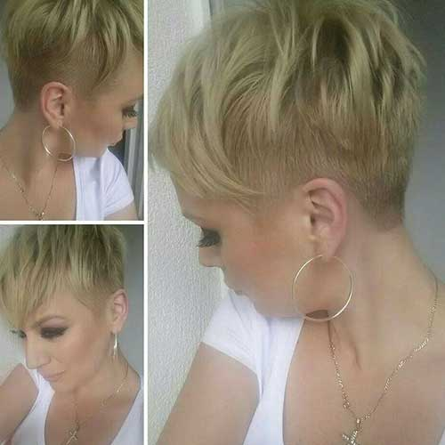 Shaved Straight Pixie Haircuts