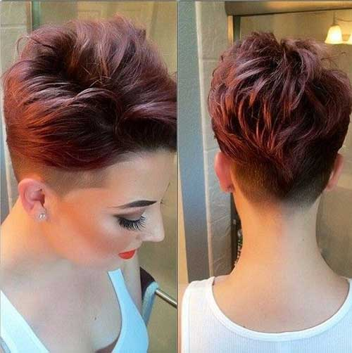 Shaved Thick Pixie Hair Cuts