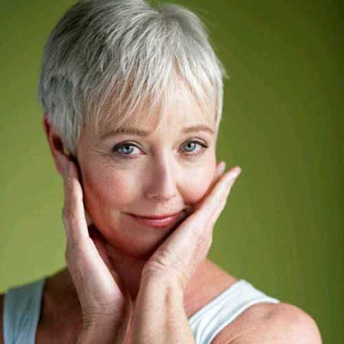 Short Nice Hair Pixie Cuts for Older Ladies