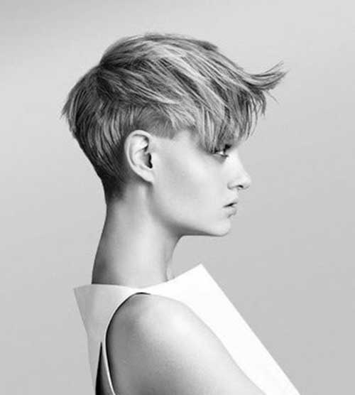 Short Pixie Haircut with Long Bangs