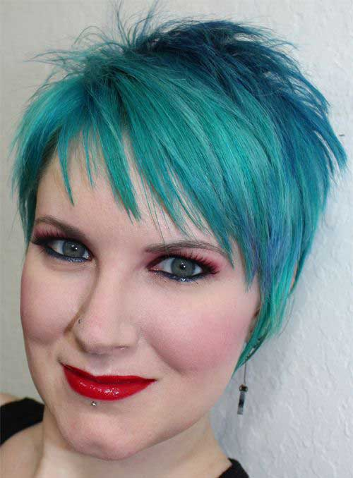Spiky Blue Pixie Haircuts