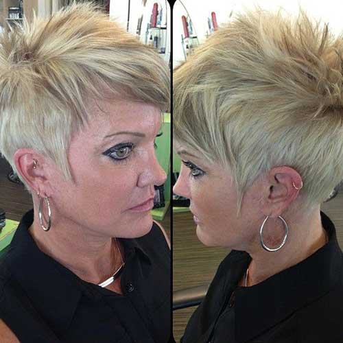 Spiky Pixie Hair Cuts for Older Women