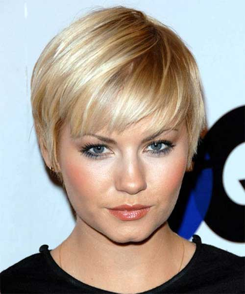 Straight Blonde Pixie Hair 2015
