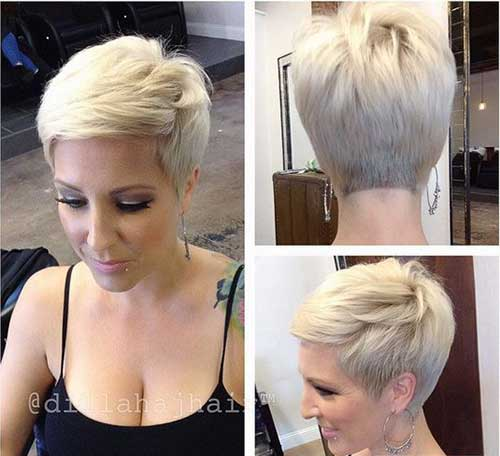 Stylish Blonde Pixie Haircuts