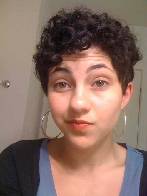 Stylish Curly Pixie Haircut