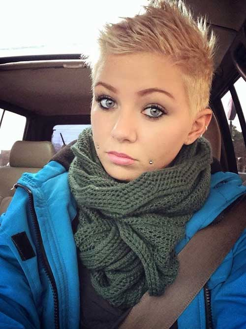 Trendy Blonde Pixie Hair Cuts
