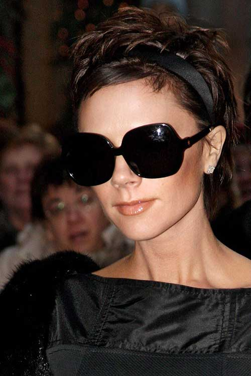 Victoria Beckham Dark Short Pixie Cut