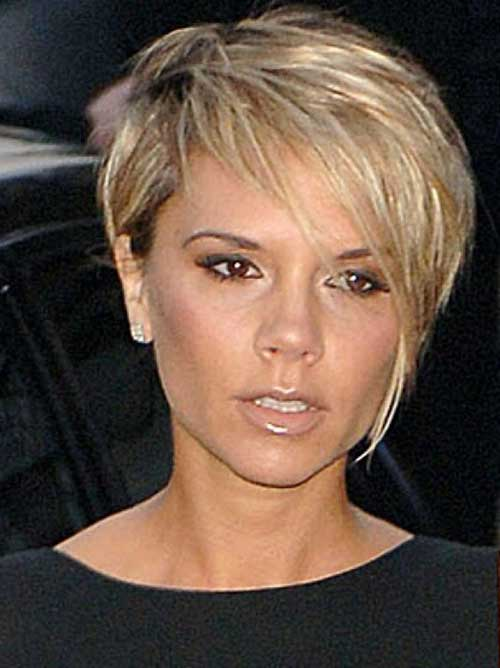 Victoria Beckham Long Blonde Pixie Cut