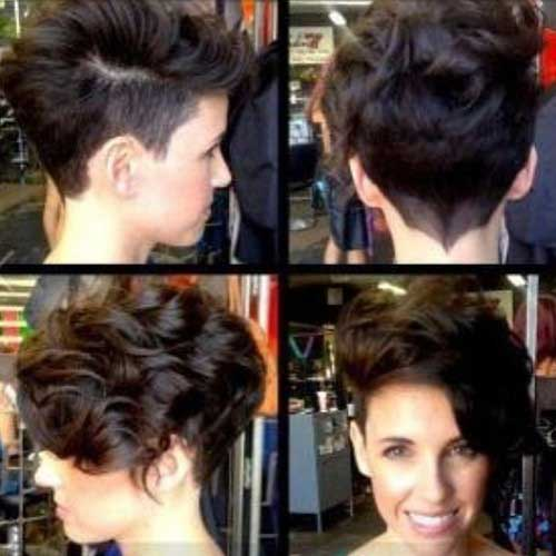 Wavy Dark Pixie Haircut