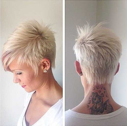 White Blonde Pixie Hair Cuts