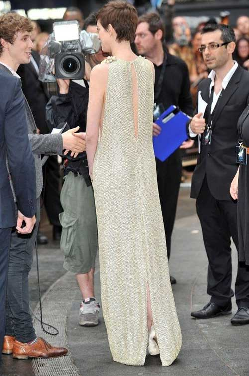 Anne Hathaway Pixie Cut Back View