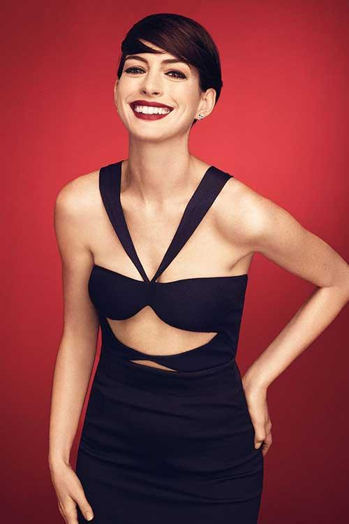 Anne Hathaway Pixie Hair 2014 2015
