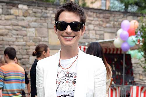 Anne Hathaway Short Pixie Hair