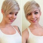 Asymmetrical Blonde Pixie Cut