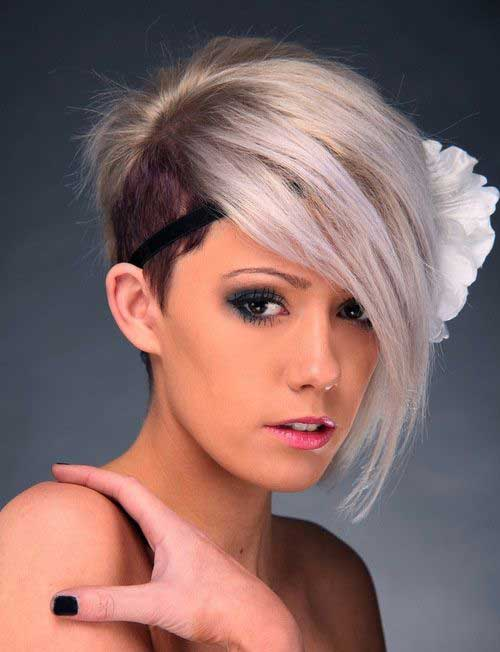 Asymmetrical Pixie Haircut Shaved Side Ideas