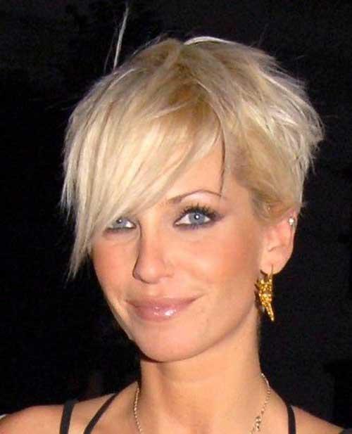 Asymmetrical Blonde Pixie Haircut