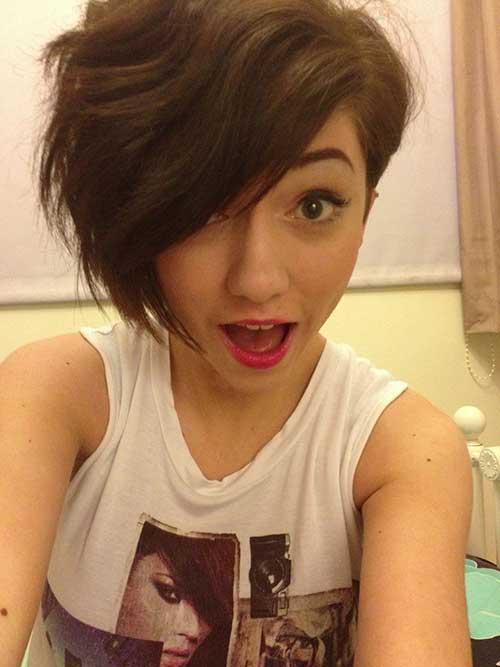 Asymmetrical Pixie Wavy Haircut