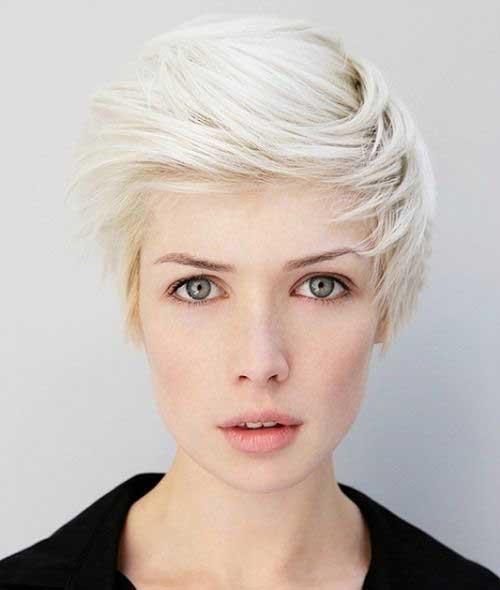 Platinum Blonde Asymmetrical Pixie