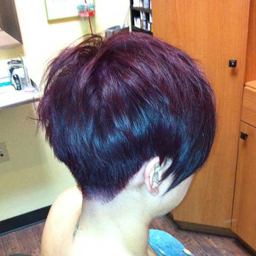 Best Back of Pixie Cut Long Bangs