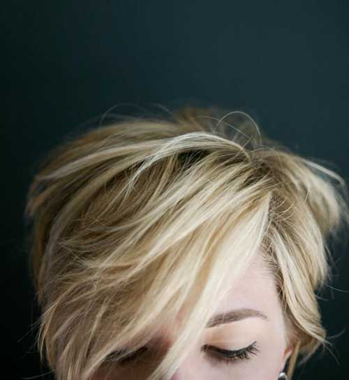 Best Blonde Pixie Haircut Long Bangs