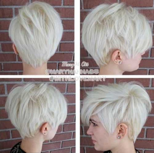 Nice Blonde Pixie Haircut