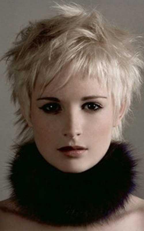 Blonde Shaggy Pixie Hair Cuts