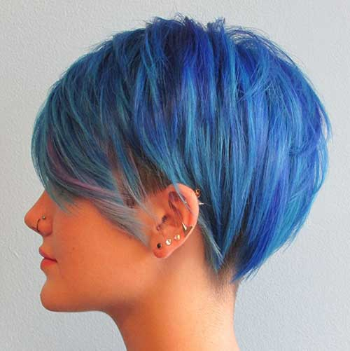 Blue Pixie Hair Color