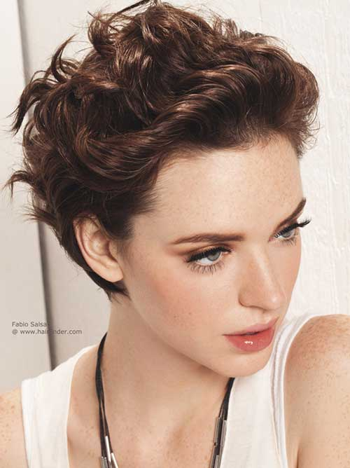 Brown Hair Pixie Cut
