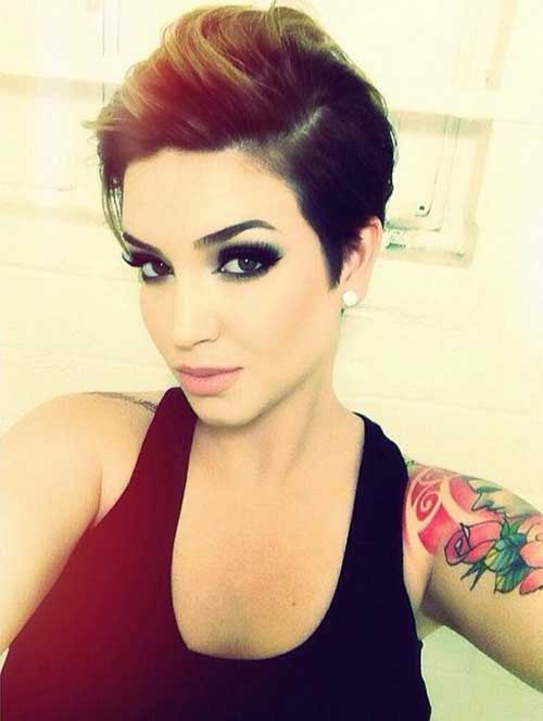 Best Brunette Pixie Cut