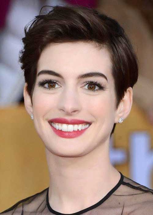 Celebrity Dark Hair Pixie Cuts
