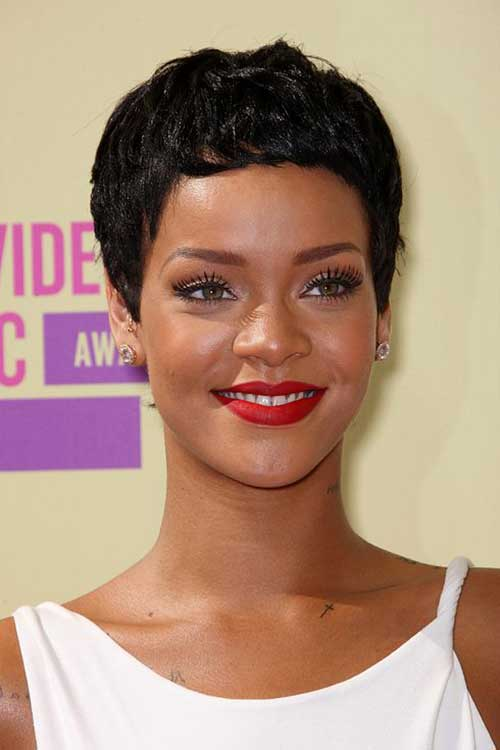 Celebrity Short Dark Pixie Cut
