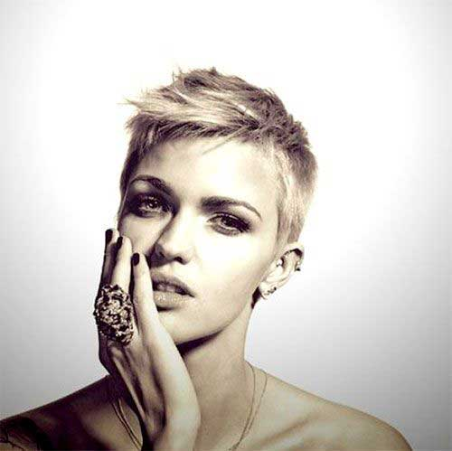 Celebrity Short Blonde Pixie Hairstyles