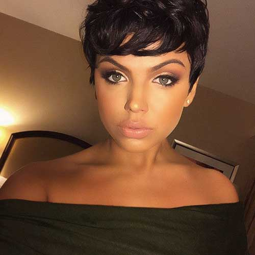 Chic Brunette Pixie Cuts