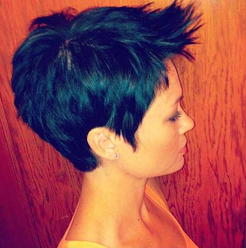 Cool Brunette Pixie Cuts