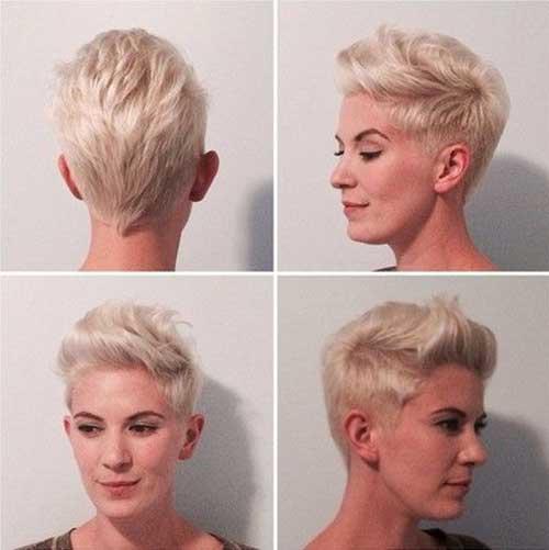 Cool Pink Blonde Pixie Cuts
