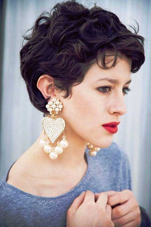 Best Curly Pixie Hairstyles Images