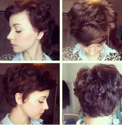 Curly Short Pixie Hairstyles Round Faces