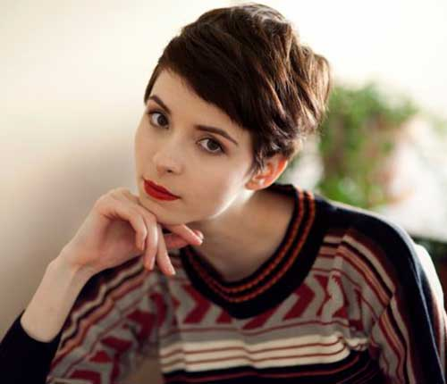 Cute Dark Brown Pixie Cuts