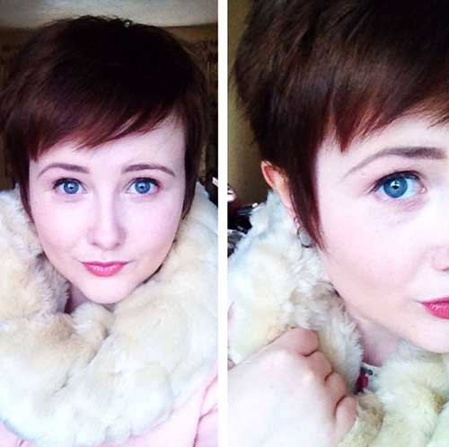 Cute Girls Brunette Pixie Cuts