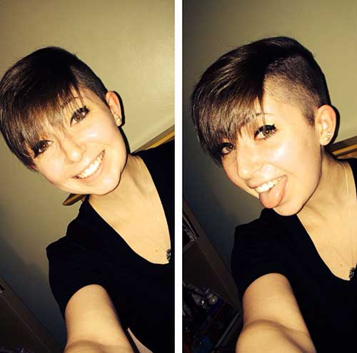 Cute Shaved Pixie Hair
