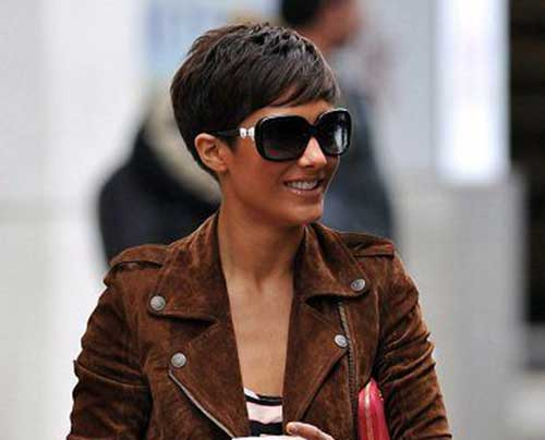 Dark Brown Long Pixie Hair