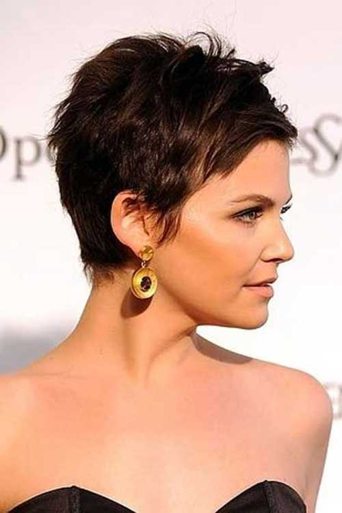 Dark Brown Short Pixie Haircuts