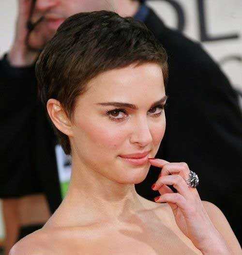 Dark Brown Very Short Pixie Hairstyles