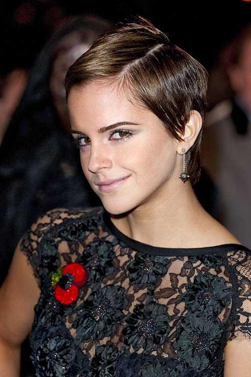 Emma Watson Fine Pixie Haircuts