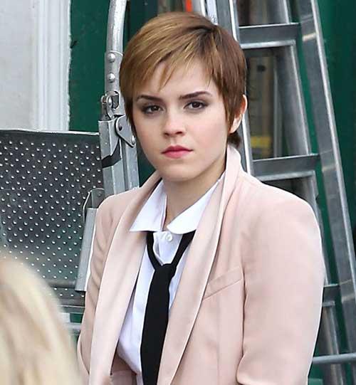 Emma Watson Fine Pixie Hair