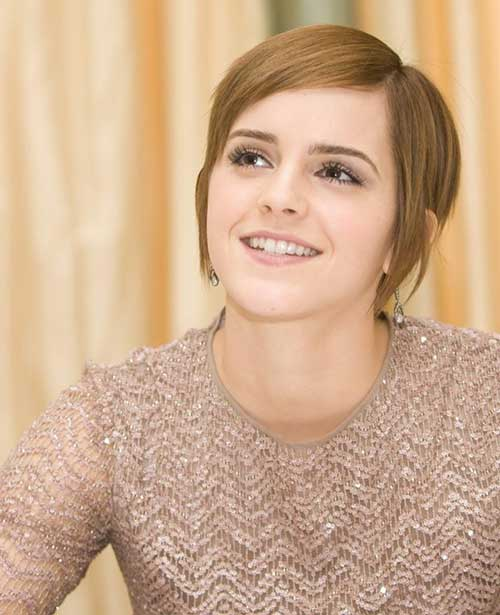 Emma Watson Long Pixie Cut