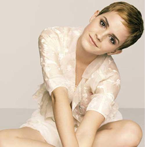 Emma Watson Short Fine Pixie Cuts