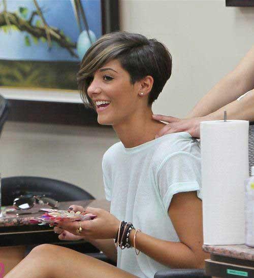 Frankie Sandford Asymmetrical Pixie Haircut