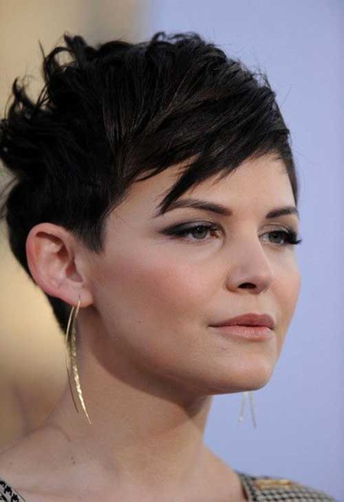 Ginnifer Goodwin Dark Pixie Haircut Ideas